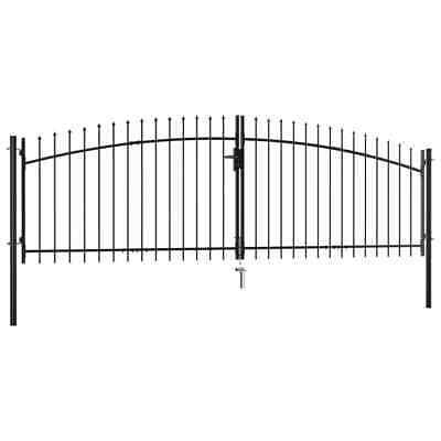 Great! Double Door Gate with Fence Spear Top Garden Backyard Patio Entryway