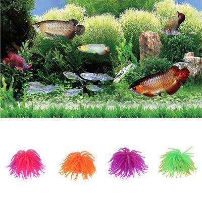 Fake Aquarium Coral Plant Underwater Ornament Soft Silicone Fish Tank Decoration ()