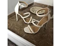 Size 3 white heels