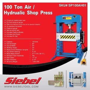 NEW 50 & 75 & 100 AIR HYDRAULIC SHOP PRESS & BOTTLE JACK SETS