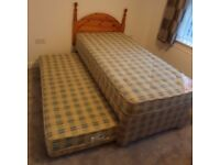 SINGLE 3 IN 1 GUEST BED WITH DEEP QUILTED MATTRESS, AND HEADBOARD