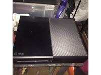 XBOX ONE BLACK WITH 9 GAMES £160 ONO