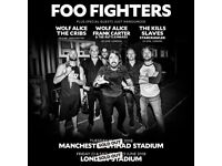 Foo fighters London tickets Olympic Stadium Saturday 23rd June x 2 tickets