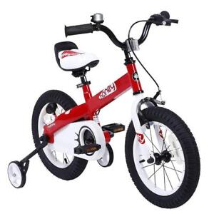 """Royalbaby high-end 18"""" bike with trainers, new"""