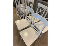 White dining chairs set of 8
