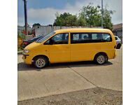 Left hand drive Hyundai H1 long wheel base 9 seats mini bus.
