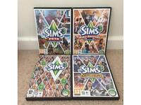 Sims 3 pc games (open to offers)