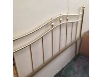 "REPRODUCTION BRASS 4FT 6 ""HEADBOARD"