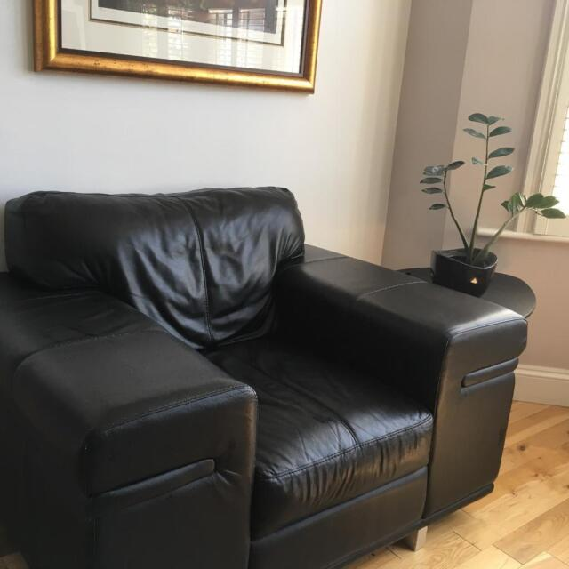 One Seater Black Leather Armchair In Putney London Gumtree