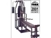 York 2001 Multigym with Pec dec Bench etc.