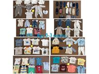 Baby boys 0-3 months clothing bundle.