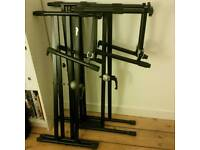Double - tier keyboard stands