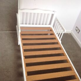 White pine toddler bed frame, in great condition.