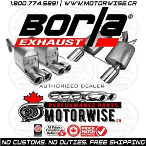 Borla Exhaust Systems | ATAK , S-Type , Touring | Find a Lower Price? We will Beat it | Free Shipping | www.motorwise.ca