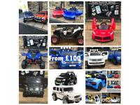 12v Ride-On Cars,Open Mon To Thurs 11 To 7.30,Parental Remote & Self DriveFrom £100
