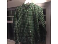 RALPH LAUREN - (Size: SMALL) Green Chequered Shirt
