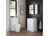 Bathroom Gloss White Storage Cabinet