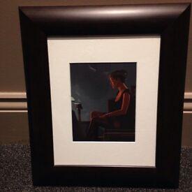 Jack Vetriano print professionally mounted and framed.
