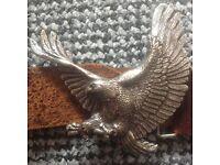 Men's eagle/ biker style belt