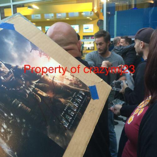 Warcraft Signed Travis Fimmel Ben Foster Ruth Negga Toby Kebbell Auto Preacher