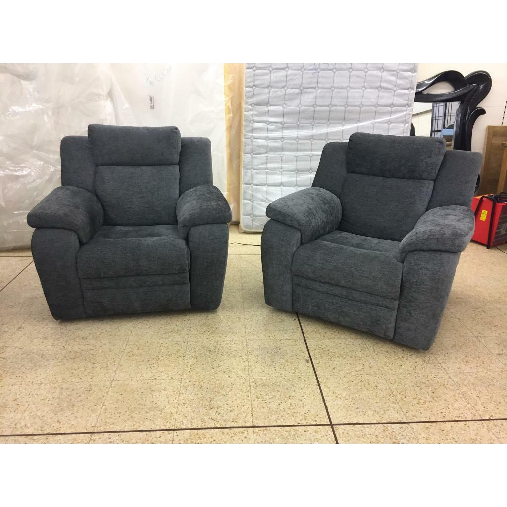 DFS Barrett grey power recliner armchairs | in Nelson ...