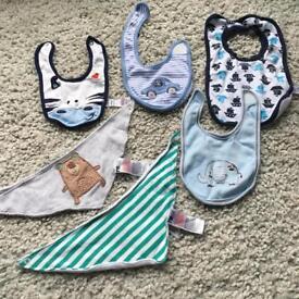 Bundle of babies bibs from various brands