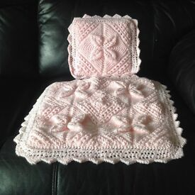 Dolls Hand Knitted Pram Cover ***Brand New*** Baby pink