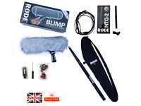 Rode NTG2 Blimp Boompole bags gold XLR cable complete pro sound package NTG 2