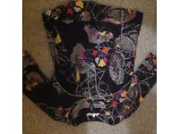 FCUK blouse size 8. Brown with beautiful coloured butterflies