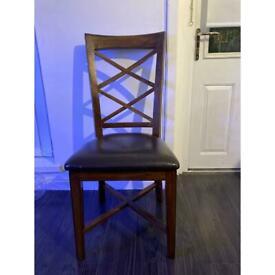 Solid wood chairs x4 £40