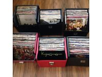 """400+ 7"""" VINYL SINGLE RECORDS in 6 BOXES/CARRY CASES ALL POP 1980s WHAM SPANDAU MADONNA A-HA DURAN"""