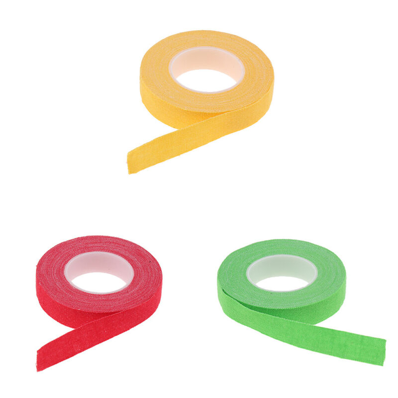 3 Pack Adhesive Tape for Guzheng and Pipa Finger Tape Green Yellow Red