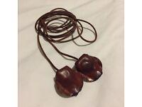 Brown Leather Boho Thong Belt