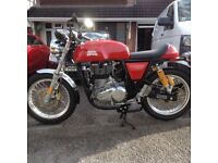 Royal Enfield 535 GT continental 2017 model with 780 miles on the clock and still as new .