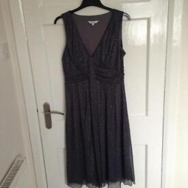 M and Co Silver- Grey Dress