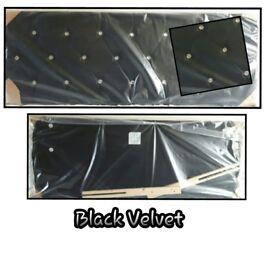 Black Velvet Diamond Headboard!