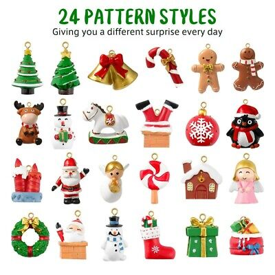 Advent Calendar Delicate Charming 24 Hanging Ornaments Hanging Pendants for Xmas