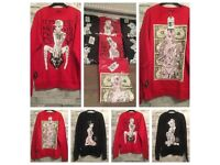 7 x BRAND NEW STREETWEAR PINUP JUMPERS FOR £25