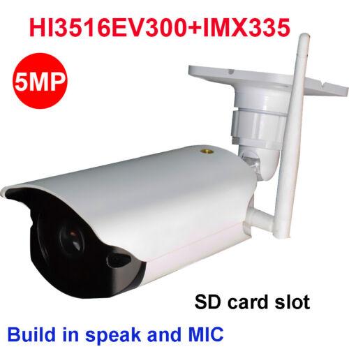 CamHi IMX335 4MP 5MP wireless ip camera outdoor IR 128GB SD card speaker  MIC P2P