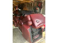 Lazy boy sofa ox blood red manual recliner