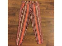 Size 10 pink patterned trousers