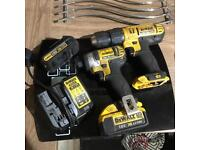 Dewalt impact driver drill batteries and charger