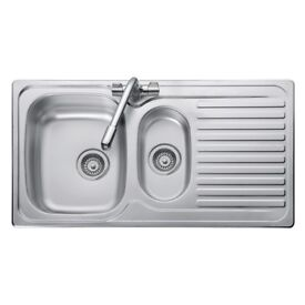 LEISURE LINEAR 950 X 508mm 1.5 BOWL KITCHEN SINK - STAINLESS STEEL