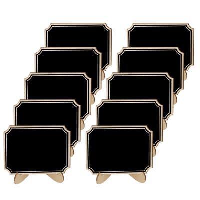 10pcs Wood Tabletop Chalkboard Blackboard Message Board for Wedding Party