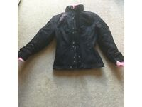 Black and pink ladies Motorcycle jacket