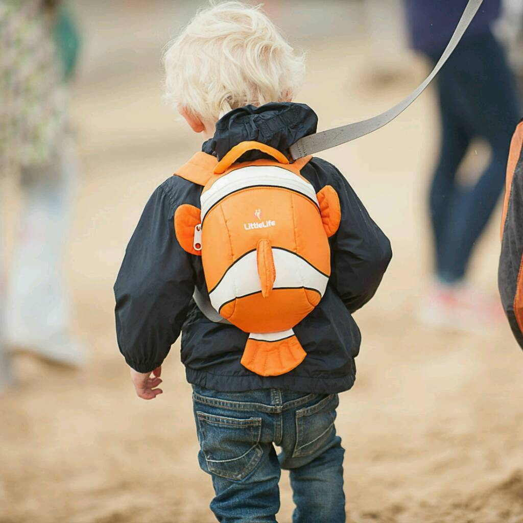 LittleLife Clownfish Toddler Backpack with hood & Rein