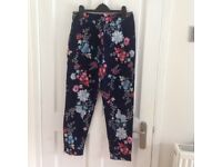 French Connection floral trousers size 8
