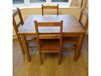 Table and 4 chairs - free mirror