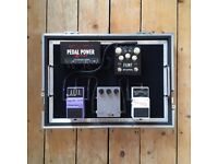 Custom Pedal Boards Small Pull Out Board With Flight Case.