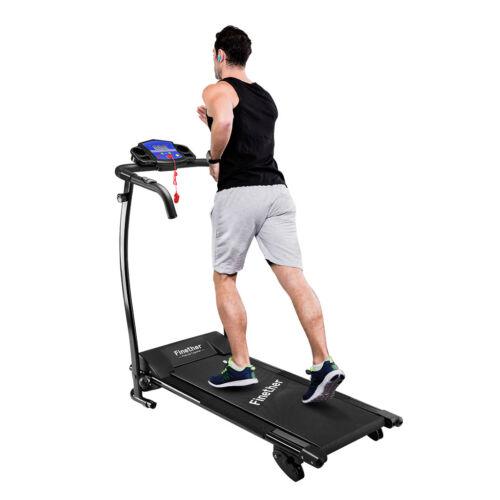 Treadmill Manual Incline Electric Motorised Folding Running Machine Jogg  Fitness